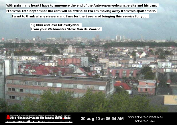 Skyline webcam of Antwerp